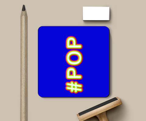 PosterGully Coasters, #POP Typography- blue Coasters | Artist : Stuti Bajaj, - PosterGully