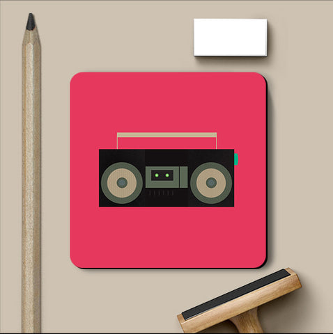 PosterGully Coasters, BoomBox Music Coaster, - PosterGully