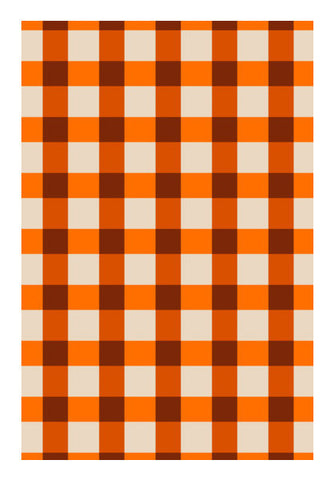 Orange Square Pattern Art PosterGully Specials