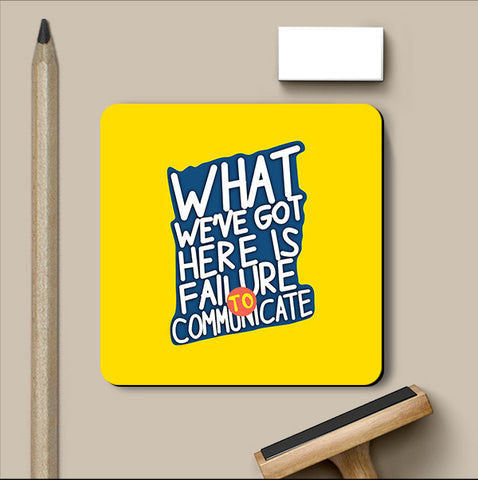 PosterGully Coasters, Failure To Communicate Cool Hand Luke Coaster, - PosterGully
