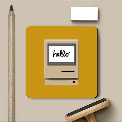 PosterGully Coasters, Retro iMac Hello Coaster, - PosterGully