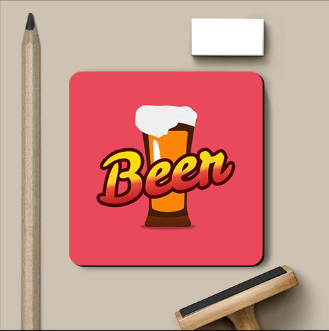 PosterGully Coasters, Beer Retro Coaster, - PosterGully