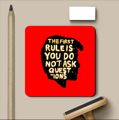 PosterGully Coasters, The First Rule Fight Club Coaster, - PosterGully