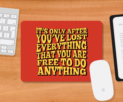Mousepads, Free To Do Anything Fight Club Mousepad, - PosterGully