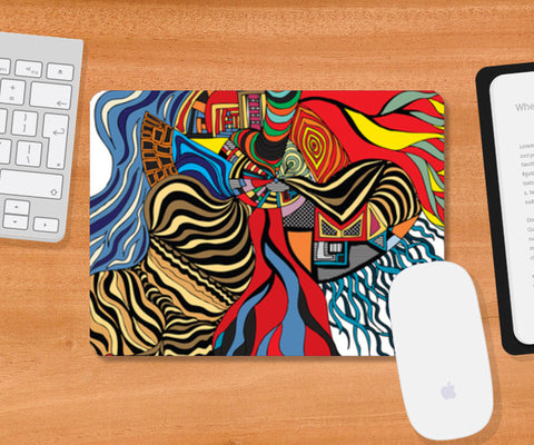 Psychedelic mania! Mousepad | Artist : Jessica Maria