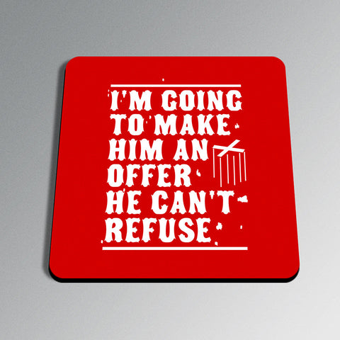PosterGully Coasters, Make Him An Offer Godfather Coaster, - PosterGully