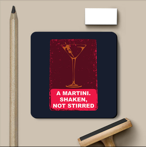 PosterGully Coasters, Martini James Bond Coaster, - PosterGully