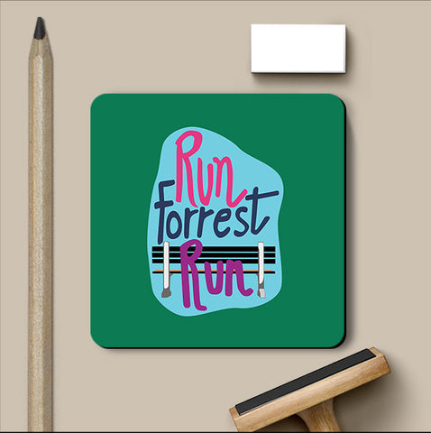 PosterGully Coasters, Run Forrest Run - Forrest Gump Coaster, - PosterGully