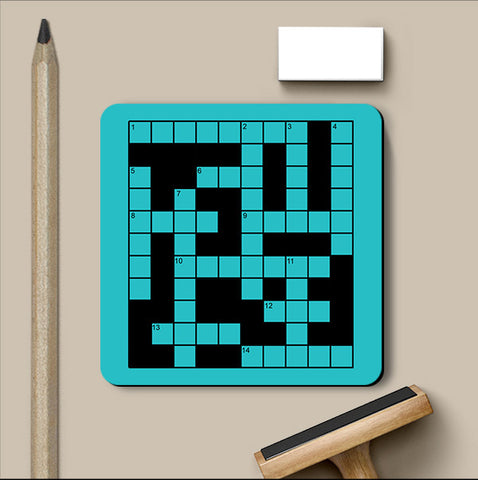 PosterGully Coasters, Cross Word Game Coaster, - PosterGully