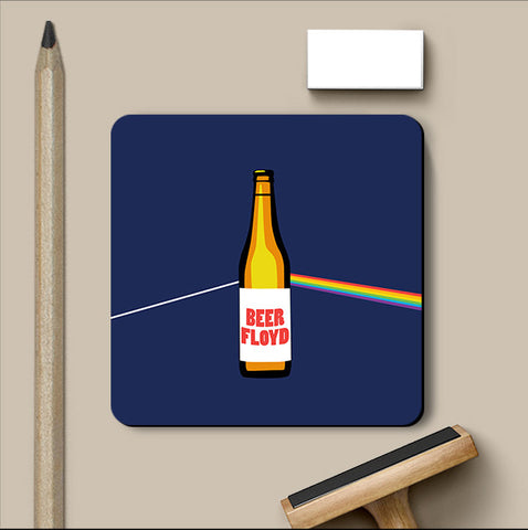 PosterGully Coasters, Beer Floyd - Pink Floyd Humour Coaster, - PosterGully