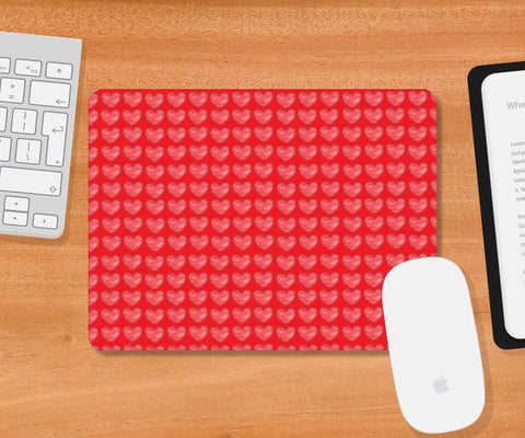 Mousepad, Printed red hearts Mousepad | Artist : Megha Vohra, - PosterGully