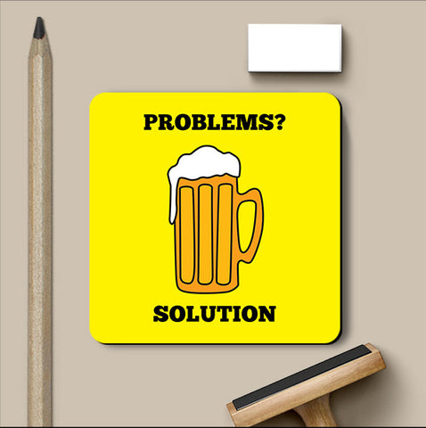 PosterGully Coasters, Problems Beer Humour Coaster, - PosterGully
