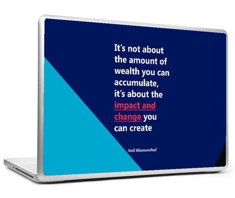 Laptop Skins, Neil Blumenthal impact - Startup Quote Laptop Skin, - PosterGully