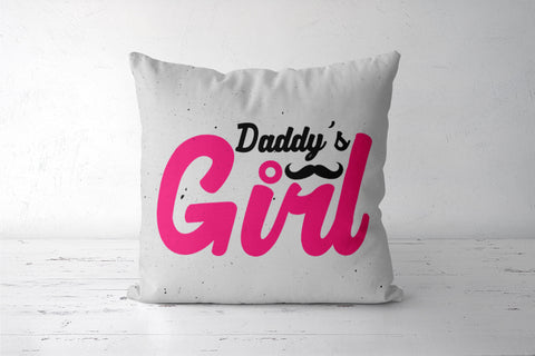 Daddy's girl with moustache Cushion Covers | Artist : Designerchennai