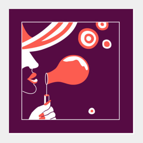 Troubles be bubbles Square Art Prints | Artist : Vishali Bawa