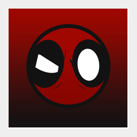 Square Art Prints, Deadpool Square Art Prints | Artist : Tushar Gupta, - PosterGully