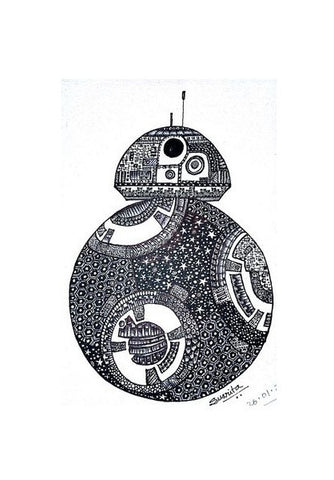 Wall Art, Star wars BB-8 Wall Art | Artist : My intricate designs, - PosterGully