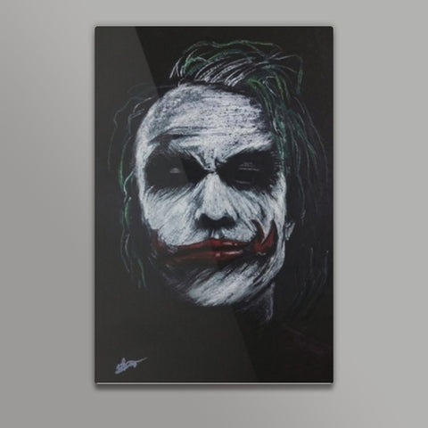 The Joker Heath Ledger Metal Prints | Artist : Vivek Aind