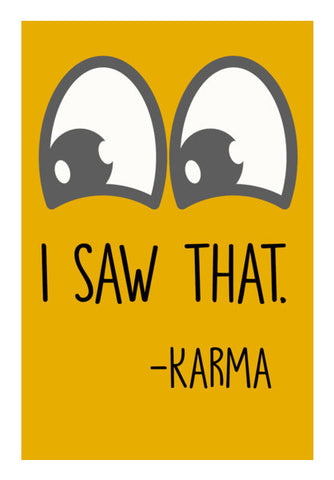 I Saw That | Karma Wall Art | Artist : Manju Nk