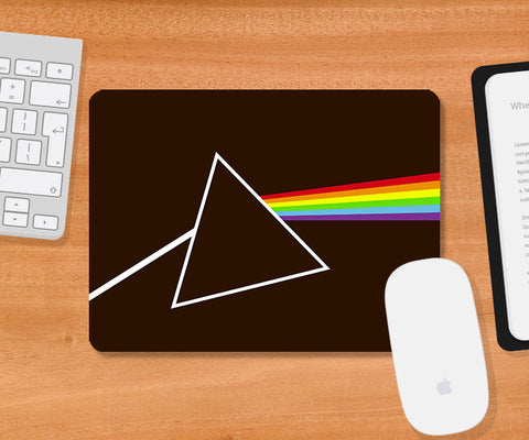 Mousepads, Dark Side Of The Moon Brown Mousepad, - PosterGully