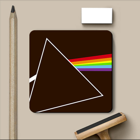 PosterGully Coasters, Dark Side Of The Moon Brown Coaster, - PosterGully