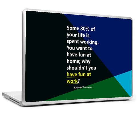 Laptop Skins, Richard Branson - Fun - Startup Quote Laptop Skin, - PosterGully