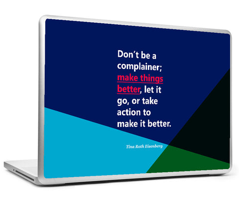 Laptop Skins, Tina Roth Eisenberg - make Things - Startup Quote Laptop Skin, - PosterGully