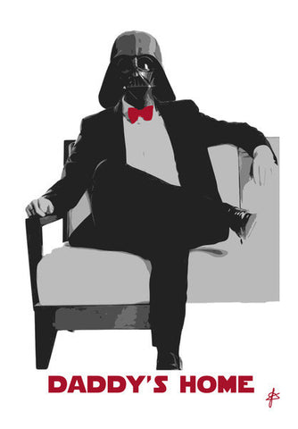 Darth Daddy Vader Abstract Art PosterGully Specials