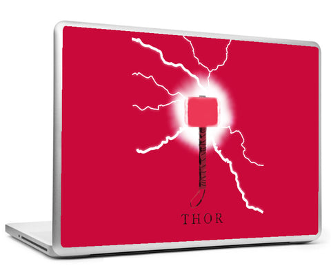 Laptop Skins, Thor Hammer - Red Laptop Skin, - PosterGully