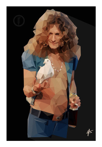 Robert Plant Led Zeppelin Wall Art | Artist : Jason Ferrao