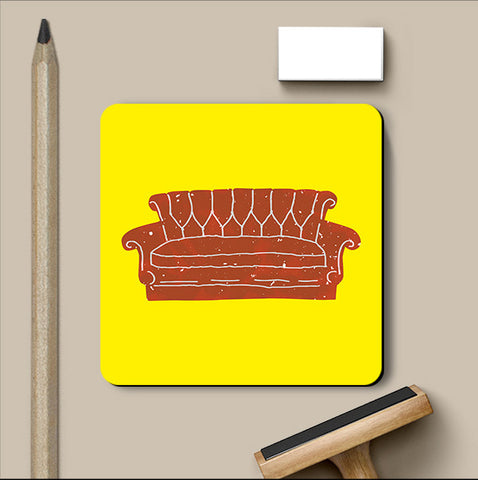 PosterGully Coasters, Friends Sofa Coaster, - PosterGully
