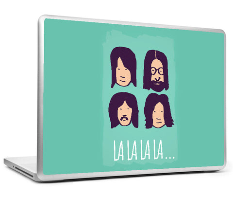 Laptop Skins, Beatles La La La Green Laptop Skin, - PosterGully