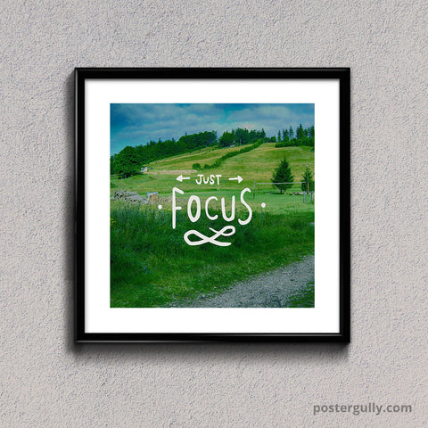 Square Glass Framed, Just Focus | Square Glass Framed, - PosterGully