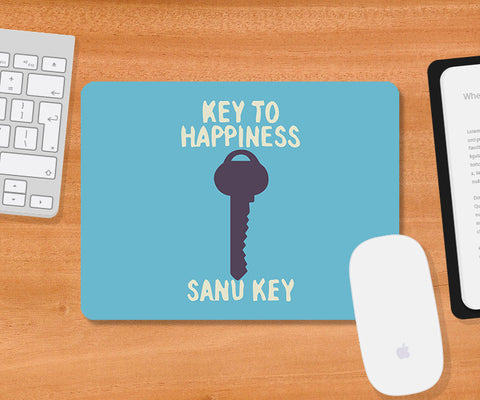 Mousepads, Key To Happiness Humour Mousepad, - PosterGully