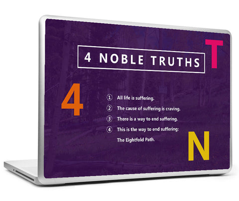 Laptop Skins, 4 Noble Truths - Buddha Laptop Skin, - PosterGully