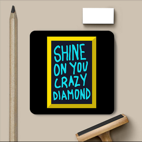 PosterGully Coasters, Shine On You Crazy Diamond Pink Floyd Coaster, - PosterGully