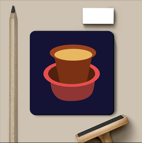 PosterGully Coasters, South Indian Chai Coaster, - PosterGully