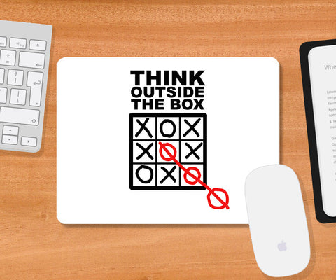 Mousepads, Think Outside The Box Mousepad, - PosterGully