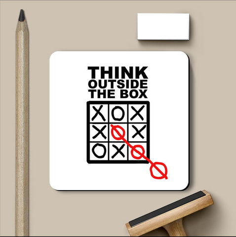 PosterGully Coasters, Think Outside The Box Coaster, - PosterGully