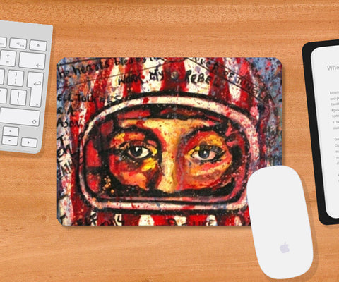 Helmet love Mousepad | Artist : the scribble stories