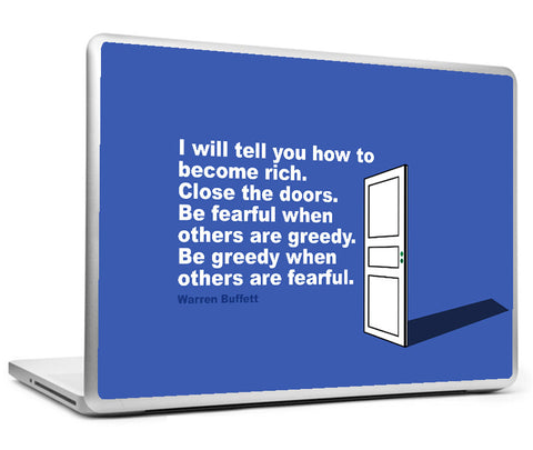 Laptop Skins, Investing Warren Buffett Rich Quote Laptop Skin, - PosterGully