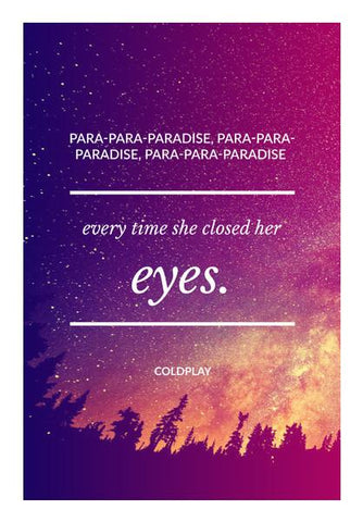 PosterGully Specials, Paradise - Coldplay Wall Art | Artist : Yash Guwalani, - PosterGully