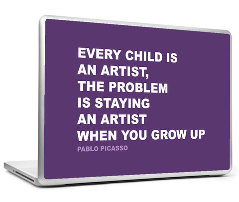 Laptop Skins, Artist Pablo Picasso Creativity Quote Laptop Skin, - PosterGully