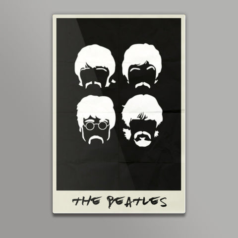 THE BEATLES MINIMAL ALBUM ART Metal Prints | Artist : Naman Kapoor