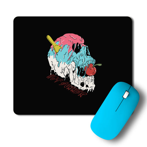 Summer Colorful Melting Skull Artwork Mousepad