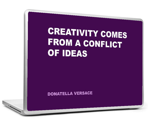 Laptop Skins, Conflict Donatella Versace Creativity Quote Laptop Skin, - PosterGully