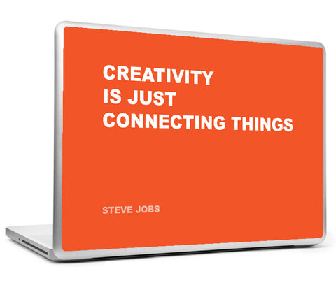 Laptop Skins, Connecting Steve Jobs Creativity Quote Laptop Skin, - PosterGully
