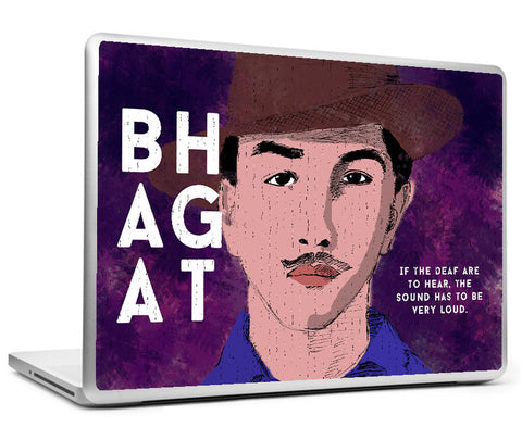 Laptop Skins, Bhagat Singh - Quote - Loud Laptop Skin, - PosterGully
