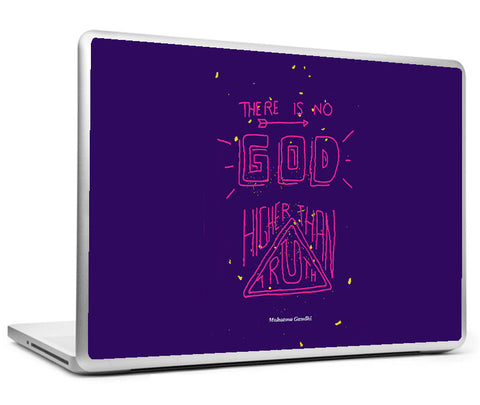 Laptop Skins, Mahatma Gandhi Quote - Higher Than Truth Laptop Skin, - PosterGully