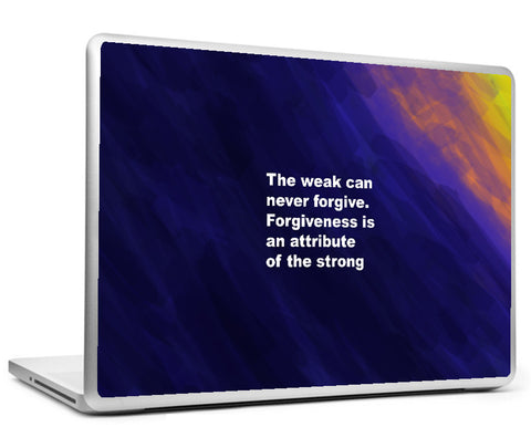 Laptop Skins, Mahatma Gandhi Quote - Forgiveness Laptop Skin, - PosterGully